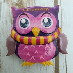 Other - NEW Lanzarote Canary Island Owl Fridge Magnet Gift